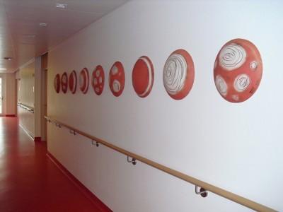 Seniorenheim Rohrbach/ Keramik Wandgestaltung 2