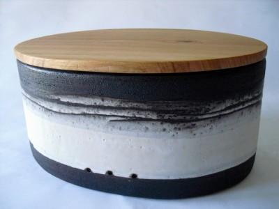 Brotdose  schwarz/weiss