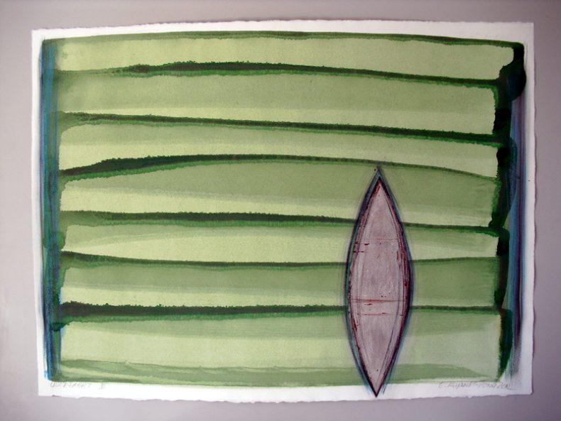 Acryl-Blattsilber-Büttenpapier 2012 76x56cm